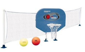 Poolmaster 72777 Above-Ground Poolside Basketball / Volleyball Game Combo