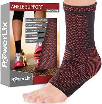 PowerLix Ankle Brace Compression Support Sleeve for Athletics