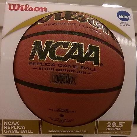 in box brand new Wilson NCAA Replica Game Basketball