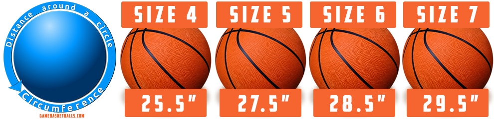 major basketball sizes